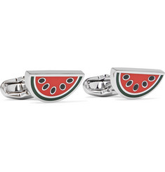 Paul Smith - Watermelon Silver-Tone and Enamel Cufflinks