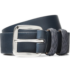 Paul Smith 3cm Navy Leather Belt