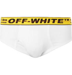 Off-White Stretch-Cotton Briefs