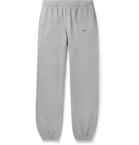 Off-White Loopback Cotton-Jersey Sweatpants
