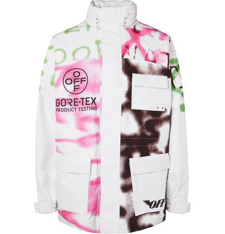 Off-White Jackets PRINTED GORE-TEX JACKET