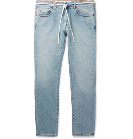 OFF-WHITE | Off-White - Skinny-Fit Denim Jeans - Blue | Goxip