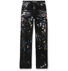 Off-White Paint-Splattered Denim Jeans