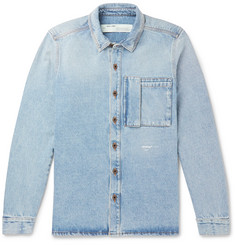 Off-White - Logo-Print Denim Shirt