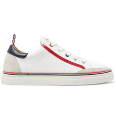 Thom Browne Suede-Trimmed Leather Sneakers