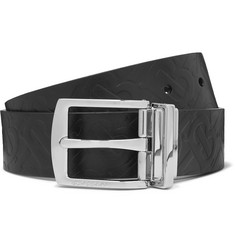 Burberry 3.5cm Embossed Leather Belt