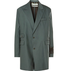 Off-White - Grey-Green Oversized Virgin Wool-Blend Suit Jacket