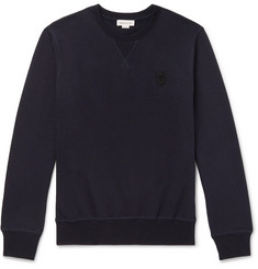 Alexander McQueen Slim-Fit Skull-Embellished Loopback Cotton-Jersey Sweatshirt
