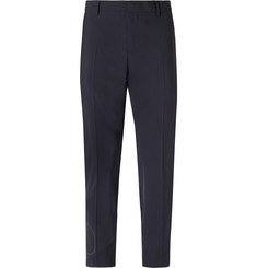 Valentino Slim-Fit Logo-Print Stretch Virgin Wool-Blend Trousers