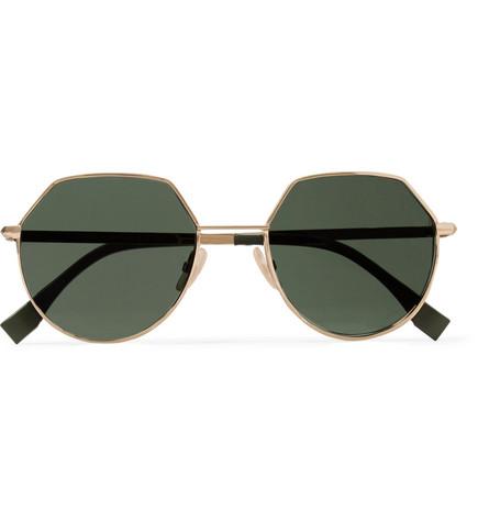 Tone Fendi Hexagon Gold Sunglasses Frame 0wOkXnP8N