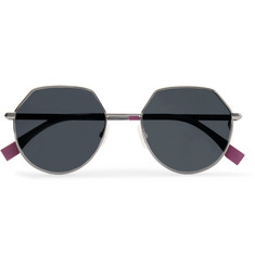 Fendi Hexagon-Frame Gunmetal-Tone Sunglasses