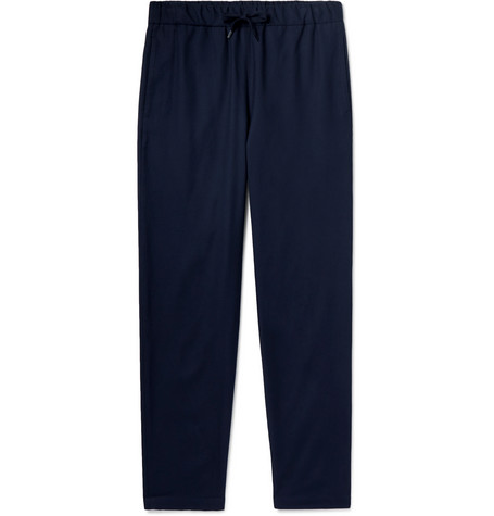 A.P.C. Tapered Cotton-Blend Drawstring Trousers