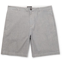 A.P.C. Striped Cotton-Blend Chino Shorts