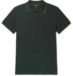 A.P.C. Contrast-Tipped Cotton-Piqué Polo Shirt