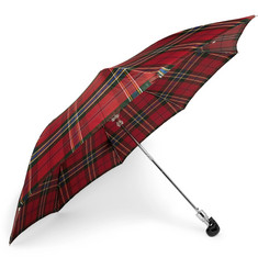 Alexander McQueen - Checked Skull-Handle Umbrella