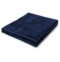 Alexander McQueen Logo-Detailed Cotton-Terry Towel