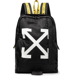 Off-White - Easy Logo-Print Canvas Backpack