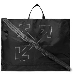Off-White - Unfinished Logo-Print Shell Tote Bag
