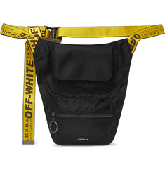Off-White - Logo-Jacquard Webbing and Shell Belt Bag