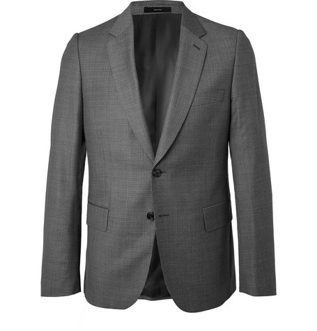 PAUL SMITH | Paul Smith - Grey Soho Slim-Fit Puppytooth Wool Suit Jacket - Gray | Goxip