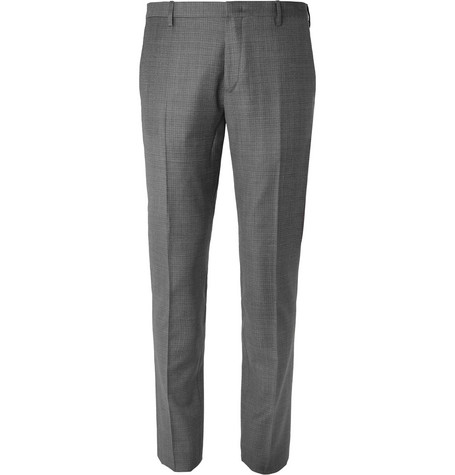 PAUL SMITH | Paul Smith - Grey Soho Slim-Fit Puppytooth Wool Suit Trousers - Gray | Goxip