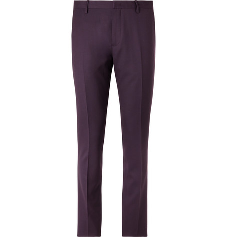 PAUL SMITH | Paul Smith - Aubergine Soho Slim-Fit Wool Suit Trousers - Purple | Goxip