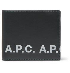 A.P.C. Logo-Print Leather Billfold Wallet