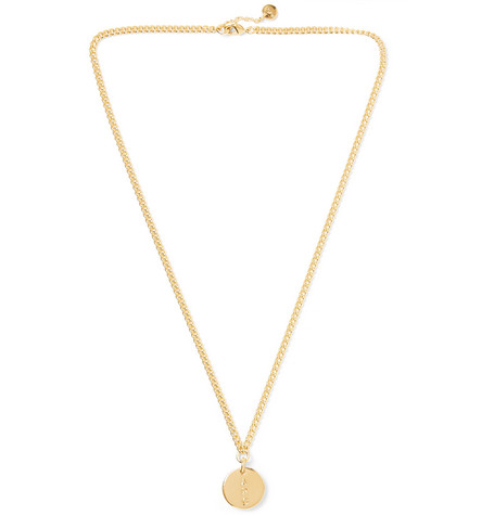 Casey Logo Engraved Gold Tone Necklace by A.P.C.