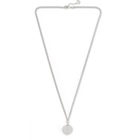 Casey Logo Engraved Silver Tone Necklace by A.P.C.