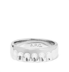 A.P.C. - Bottle Cap Silver-Tone Ring