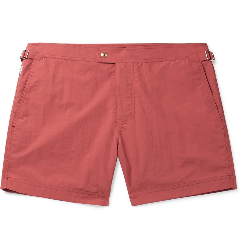 Slim-fit Short-length Swim Shorts - Orange