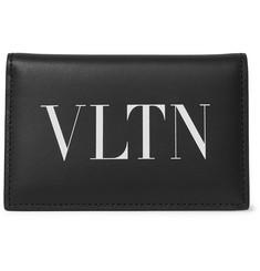 Valentino Garavani Logo-print Leather Bifold Cardholder - Black