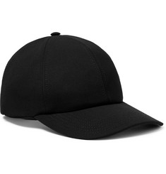 Valentino Valentino Garavani Logo-Embroidered Stretch-Wool Twill Baseball Cap