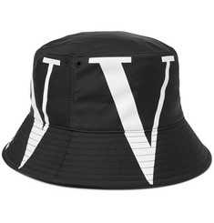 Valentino Logo-Print Canvas Bucket Hat