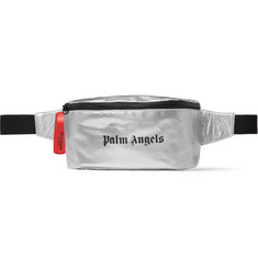 Palm Angels Logo-Print Shell Belt Bag