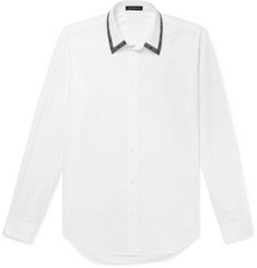 Versace Logo-Trimmed Cotton-Poplin Shirt