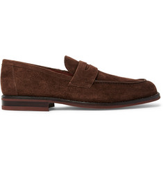 Loro Piana City Life Suede Penny Loafers