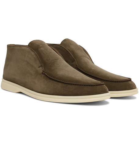 Open Walk Suede Boots by Loro Piana