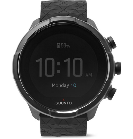 Suunto 9 Baro GPS Titanium and Silicone Digital Watch