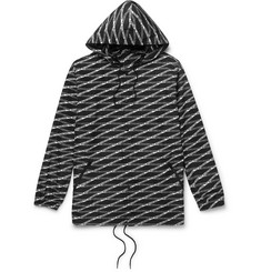Balenciaga Oversized Logo-Print Shell Hooded Jacket
