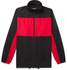 Balenciaga Oversized Colour-Block Cotton-Shell Jacket