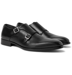 Dunhill Leather Monk-Strap Shoes
