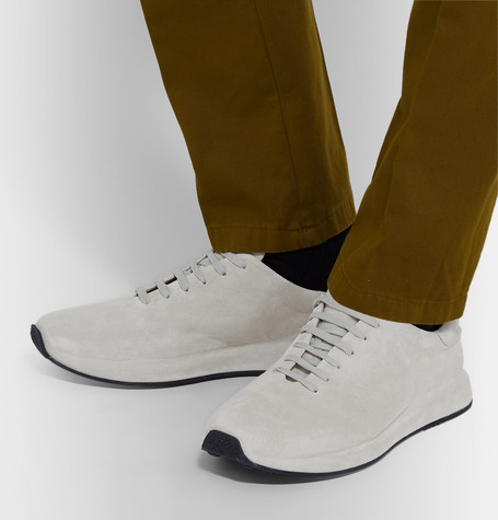 Officine Creative Race Suede Sneakers In Gray
