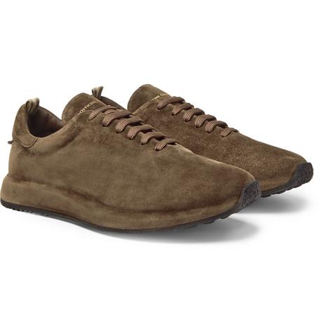 Race Suede Sneakers - Green