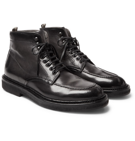 Stanford Leather Boots - Dark gray