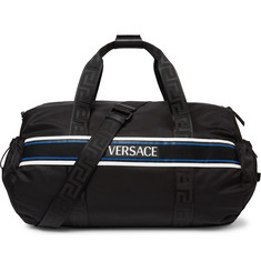 Versace - Logo-Detailed Webbing-Trimmed Nylon Duffle Bag