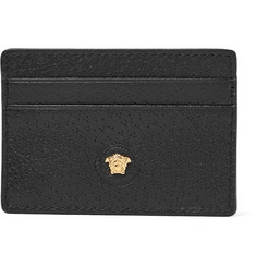 1415d2d8d3df Versace - Logo-Appliquéd Textured-Leather Cardholder