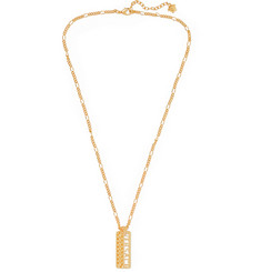 Versace - Logo Gold-Tone Necklace