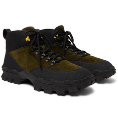 Moncler Hector Suede and Rubber Hiking Boots