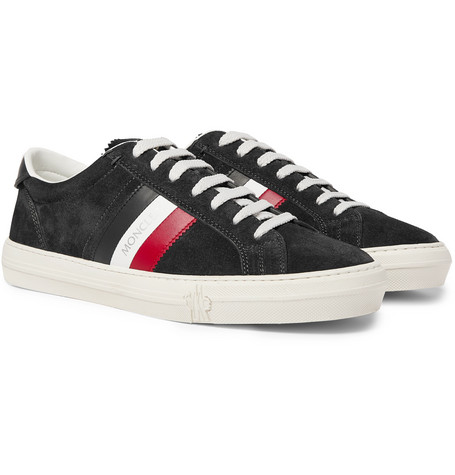 Moncler Sneakers NEW MONACO LEATHER AND SUEDE SNEAKERS